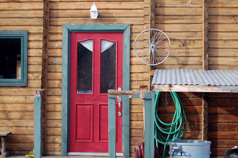 Door and Bike Wheel, Crested Butte, CO