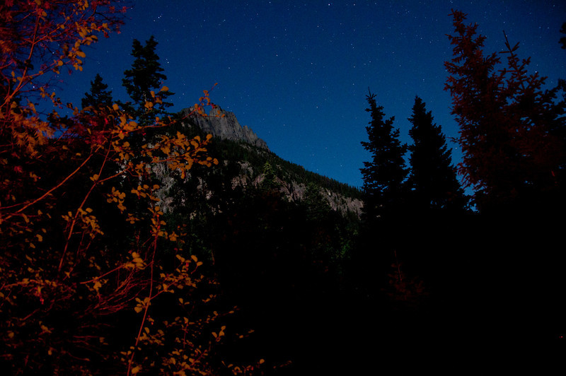 Night shots are fun and this is a long exposure from a campsite in Colorado.