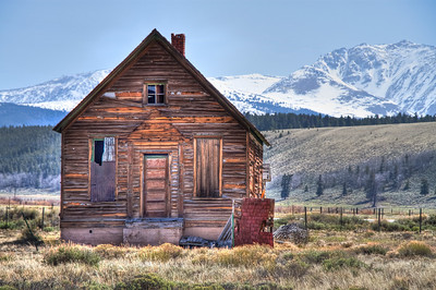 Little Cabin south of Crystal Lakes on Hwy 24 south of Leadville.  http://goo.gl/maps/Gxptw