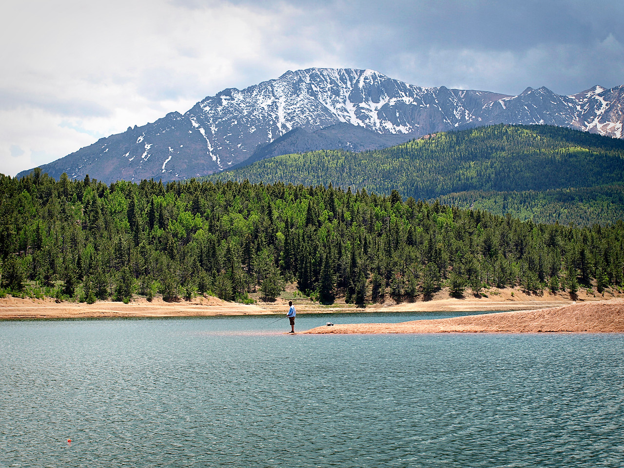 Fishing on Crystal Reservoir - Crystal Reservoir is one of the stops on the way to Pike's Peak  Order Code: C4
