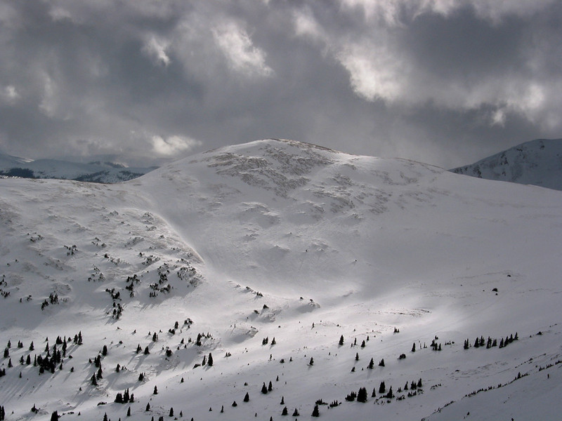 Copper Mtn. ski resort - the backside bowl