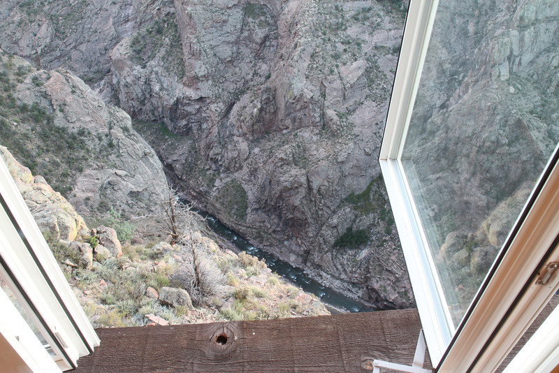 The Royal Gorge at Cañon City, Colorado.  We stayed on the edge of a cliff in the Big Horn Mountaintop Lodge.
