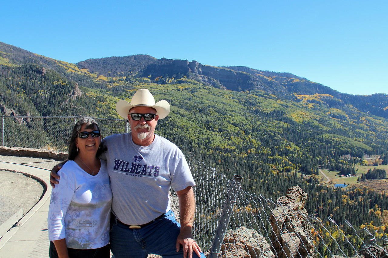 Peggy & Steve, the reason we were in this beautiful area near Durango CO