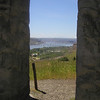 Peering out towards Maryhill State Park in Goldendale from the Stonehenge war memorial. May 20.