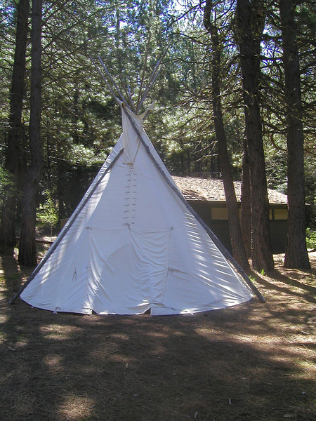 Teepee at Brooks Memorial State Park, Goldendale, WA.  May 20.