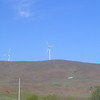 An isolated wind turbine to the northeast of the Stonehenge war memorial in Goldendale. May 20.