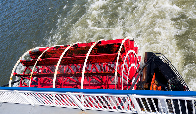 The paddle wheel is just for show.  But it's fun to watch.
