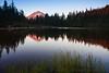 Mt. Hood Alpenglow at Mirror Lake, Horizontal