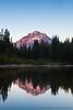 Mt. Hood Alpenglow at Mirror Lake, Vertical