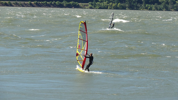Wind Surfers on Columbia River