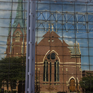 Church Reflecting off the AT&T Switching Station