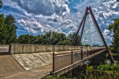 Second Street Bridge over the White River in High Dynamic Range