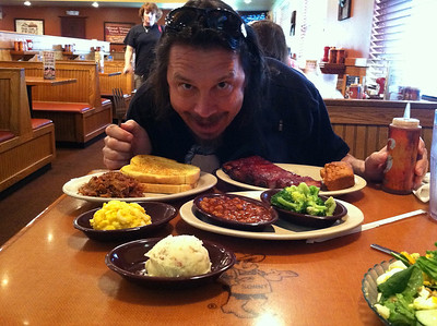15 March 2011: A lunchtime feast at Sonny's BBQ.