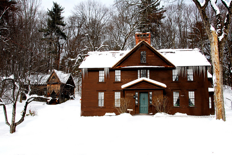 Louisa May Alcott House in winter