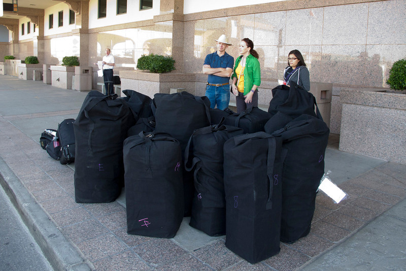 14 team bags, 50 pounds each, ready to load up in El Paso