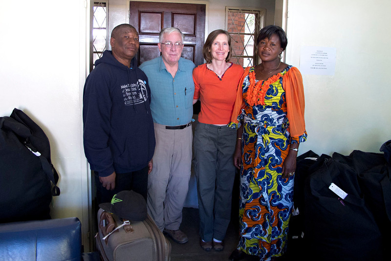 Tom and Mary Len Stanton with our #1 man in Congo, Claude Kabongo and his wife.