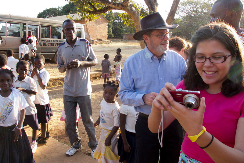 David Persons (in the hat), missionary to Mulungwishi for the last 35 years.