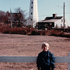 Benjamin at New London Lighthouse - New London, CT - 10/21/85<br /> Pequot Ave. 1760 - Rebuilt in 1801