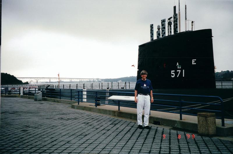 Randal at Nautilus Submarine Museum - Groton, CT 9-8-99