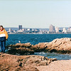 Louise Enjoying the Ocean - Lighthouse Point - New Haven, CT  10-23-98