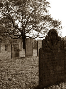 An old cemetery in Coventry, CT. Nathan Hale is buried near here.