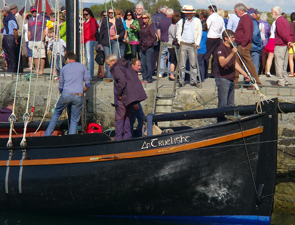 We were lucky enough to be in Roundstone for their regatta weekend. The stars were the Galway Hookers, which were originally used for transporting peat and fishing.