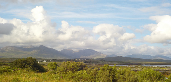 Typical Connemara landscape with a 'Paul Henry' sky.