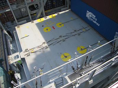 45 feet containers alleen bovendeks