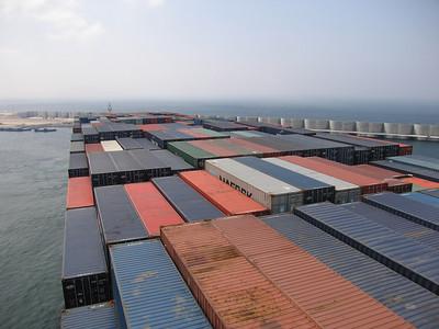 Met het grootste containerschip van Duitsland!