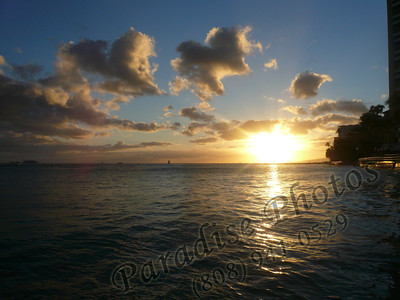 Waikiki sunset 0807 (1)