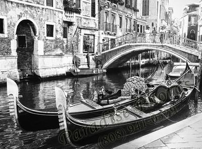 B&W Venice Gondola