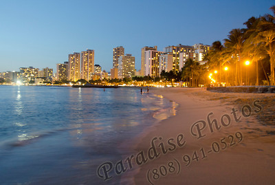 Wave Waikiki beach & buildings 0312 rw2187