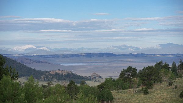 Swatch and Mosquito mountain range from Wilkerson Pass.