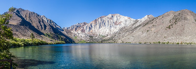 Crystal clear water with a gorgeous mountainous backdrop - Convict Lake