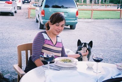 7/7/05 Dinner at the Restaurant at Convict Lake Resort. Eastern Sierras, Mono County, CA