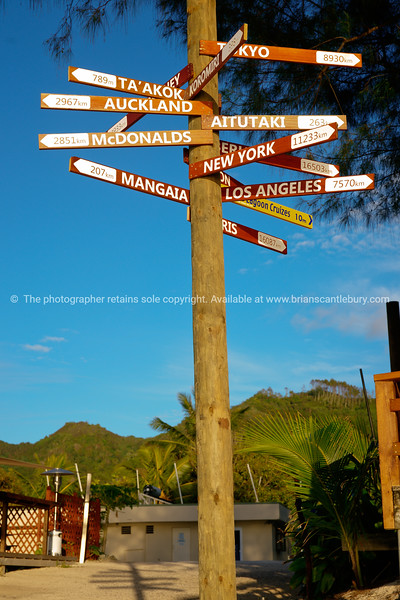 """To everywhere, from Rarotonga. Sign to major world cities at Muri Beach, Rarotonga, Cook Islands. Please preview book """"Cook Islands"""", above.  <a href=""""http://www.blurb.com/b/1907535-cook-islands"""">http://www.blurb.com/b/1907535-cook-islands</a>"""