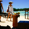 "Sights of the Cook Islands. Tropical paradise in the south Pacific.<br /> Tourists home in on beachside restaurant.<br /> Model released; no, for editorial & personal use. Please preview book ""Cook Islands"", above.  <a href=""http://www.blurb.com/b/1907535-cook-islands"">http://www.blurb.com/b/1907535-cook-islands</a>"
