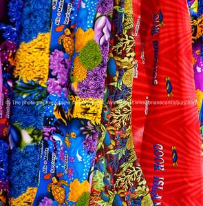 """Colourful material, tropical prints featuring Cook Island scenes. Please preview book """"Cook Islands"""", above. www.blurb.com/b/1907535-cook-islands"""