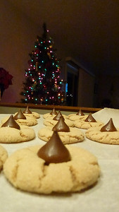 The finished Peanut Butter Blossoms.