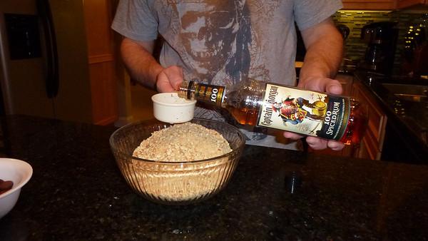 Doug adding the Rum.