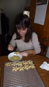 Diane adding pistachios.
