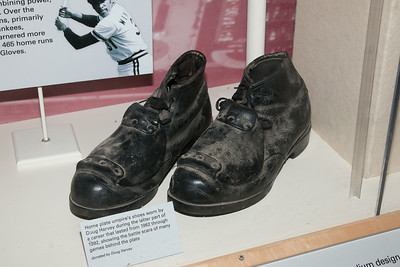 Umpire Doug Harvey's steel-reinforced shoes -- A trip to the Baseball Hall of Fame, Cooperstown, NY, June 2014