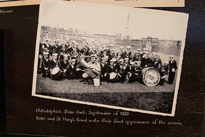 Babe Ruth with tuba and St. Mary's Band (1920) -- A trip to the Baseball Hall of Fame, Cooperstown, NY, June 2014