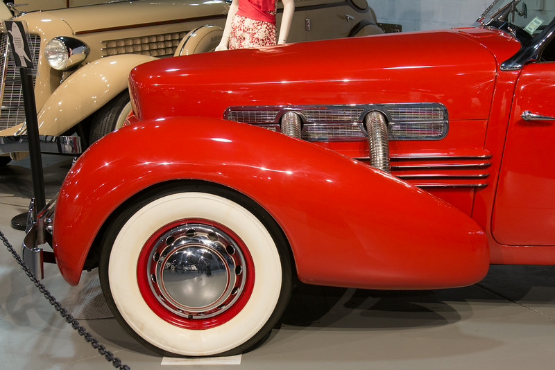 1937 Cord Model 812 Sportsman -- Northeast Classic Car Museum, Norwich, NY, June 2014