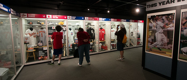 Lockers for each MLB team -- A trip to the Baseball Hall of Fame, Cooperstown, NY, June 2014