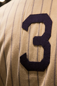Detail of Babe Ruth's #3 jersey -- A trip to the Baseball Hall of Fame, Cooperstown, NY, June 2014