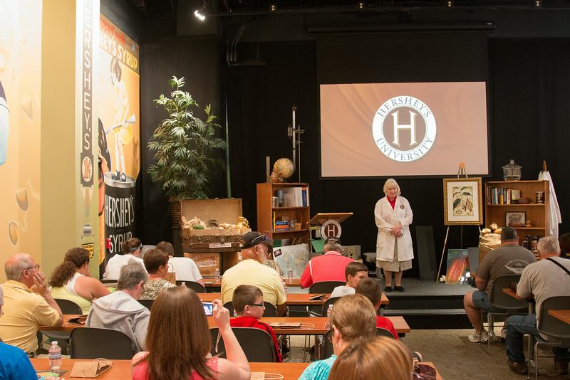 Chocolate tasting -- Hershey's Chocolate World, Hershey, PA - June 2014