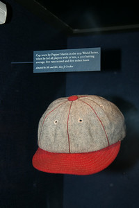Pepper Martin 1931 Cardinals cap -- A trip to the Baseball Hall of Fame, Cooperstown, NY, June 2014