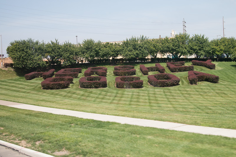 Hershey's Cocoa hedges -- Hershey's Chocolate World, Hershey, PA - June 2014