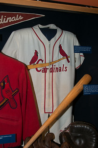 Stan Musial's 1952 Cardinals jersey and 1962 bat -- A trip to the Baseball Hall of Fame, Cooperstown, NY, June 2014